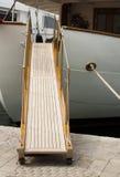 Yacht boarding ladder Royalty Free Stock Photos