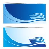 Yacht boat banners Stock Images