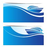 Yacht boat banners Stock Photos