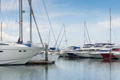 Yacht boat docking port Royalty Free Stock Image
