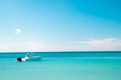 Yacht boat at Exotic beautiful marine beach of Antigua St. Johns Stock Photos
