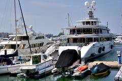 Yacht and boat at Hongkong gold coast harbor Royalty Free Stock Photography