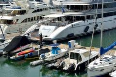 Yacht and boat in Hongkong gold coast harbor Stock Photography