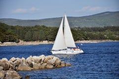 Yacht boat sail Stock Photos