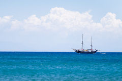 Yacht boat sailing on blue sea Royalty Free Stock Image