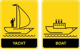 Yacht and Boat - signs Royalty Free Stock Photos