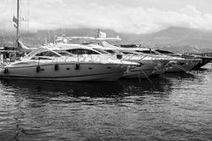 Yacht, boat. Yacht and boat on water, sea, on summer, vacation Royalty Free Stock Image