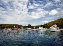 Yacht and boats Royalty Free Stock Photos