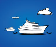 Yacht boats Royalty Free Stock Photo