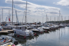 Yacht boats in marina of Gdynia Stock Photography