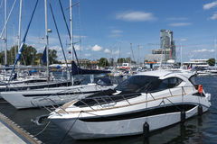 Yacht boats in marina of Gdynia Royalty Free Stock Image