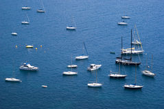 Yacht boats in Mediterranean sea Stock Images