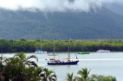 Yacht boats at  Trinity Inlet in Cairns Queensland Australia Stock Photography