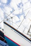 Yacht in a boatyard Stock Image