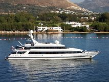 Yacht in Bodrum stock photography