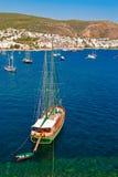 Yacht in Bodrum Fotografia Stock