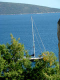 Yacht Bodrum. Yacht in the beautiful Bodrum Royalty Free Stock Photography
