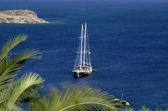 Yacht - Bodrum die Türkei Stockfoto