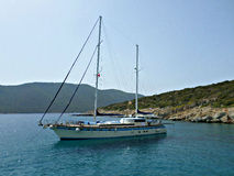 Yacht in Bodrum, Turkey Stock Photography