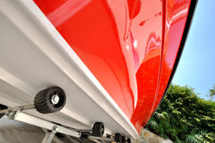Yacht body in wide view angle Stock Images