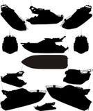 Yacht-Boot silhouettiert Vektor lizenzfreie abbildung