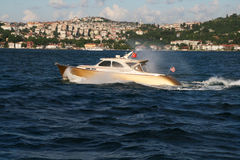Yacht on Bosphorus, Istanbul Royalty Free Stock Image