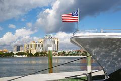 Yacht Bow in Palm Beach Stock Photography