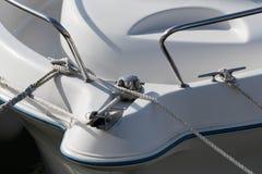 Yacht bow ropes Royalty Free Stock Image