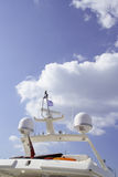 Yacht bridge. With radar and communication antennae Stock Images