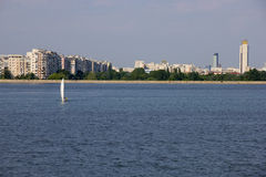 With yacht in Bucharest Royalty Free Stock Photos