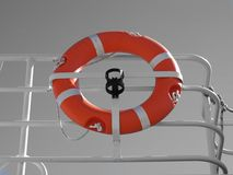 Yacht buoy. Image of an orange yacht safety device stock photos