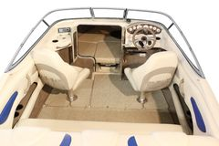 Yacht cabin and interior Stock Photo