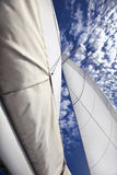 Yacht canvases Royalty Free Stock Images