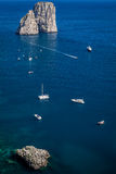 Yacht a Capri Fotografia Stock