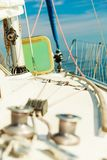 Yacht capstan on sailing boat during cruise Stock Photo