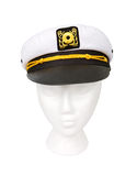 Yacht Captain Hat Isolated with a Clipping Path Stock Images