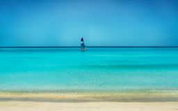Yacht. On the carribean seashore Royalty Free Stock Image