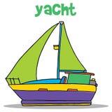 Yacht carton vector art  Royalty Free Stock Photos