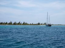 Yacht in Cayo Largo Royalty Free Stock Image
