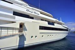 Yacht chez le Monaco Photographie stock libre de droits
