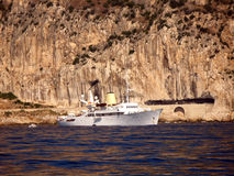 Yacht Christina O de moteur Images stock
