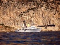 Yacht Christina O del motore Immagini Stock