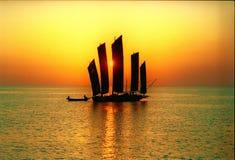 Yacht Cina antica del lago Hongze Immagini Stock
