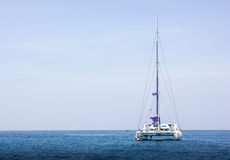 Yacht. On the clear water andaman sea Royalty Free Stock Images