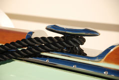 Yacht cleat and line Royalty Free Stock Image