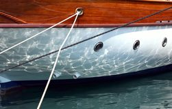 Yacht close -up Stock Image