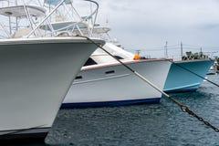 Yacht closeup in harbor Stock Photo