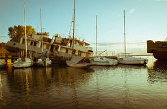 Yacht club Fotografia Stock Libera da Diritti