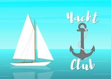 Yacht club-01 stock illustrationer