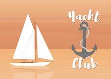 Yacht club-03 royaltyfri illustrationer